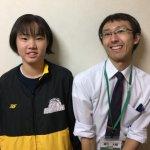 H30冬 中学2年 猪山朝由里さん 樋口先生