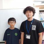 H30冬 中学2年 森脇悠斗くん 栗山先生