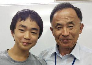 H30冬 中学3年 吉田雅くん 瀬尾先生