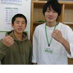 H30冬 中学3年 山田蓮さん 辰己先生