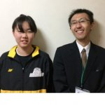 2019春 中学3年 猪山朝由里さん 樋口先生