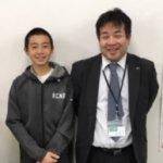 2019春 中学2年 石井羽弥馬くん 松本先生
