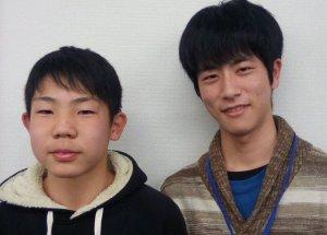 2019春 中学3年 花田優斗くん 永田先生