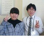 2019夏 中学2年 岡田明莉さん 小林(正)先生