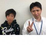 2019夏 中学3年 山本響さん 藤井先生
