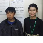 2019夏 中学3年 京谷柚太郎さん 櫻庭先生