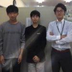 2019冬 高校2年 (左)野村光佑さん 島教室長