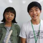 2019冬 中学3年 宇賀千笑さん 熊本先生