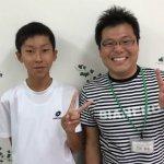 2019冬 中学3年 和田圭悟さん 小原先生