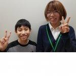 2020春 中学2年 長尾琉冬さん 増田先生