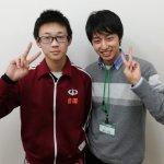 2020春 中学3年 會田晃大さん 藤田先生