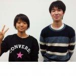 2020春 中学3年 松下恵さん 長谷川先生