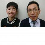 2020春 中学2年 皆川智翔さん 冨森先生