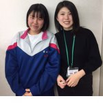 2020春 中学3年 金子栞奈さん 池田(萌)先生