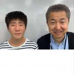 2020春 中学3年 中井瑛仁さん 田崎先生