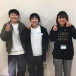 2020春 中学3年 (中央)長田心華さん 林先生