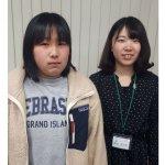 2020春 中学3年 田中理古さん 鈴木先生