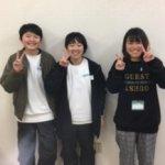2020春 中学3年 (左)前田愛華莉さん 林先生