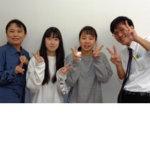 2020夏 中学3年 要藤優月さん(中央左) 川﨑先生(左端)