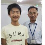 2020夏 中学1年 吉田瑞さん 瀬尾先生