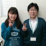 2020夏 中学3年 市東咲乃さん 小林先生