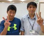 2020冬 中学3年 川邉己汰朗さん 安部先生