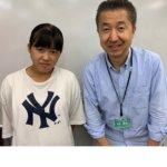 2020冬 中学2年 佐藤朱音さん 田崎先生