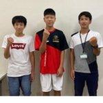 2020冬 中学3年 (左)川原煌人さん 田貫先生