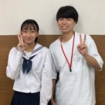 2020冬 中学3年 稲葉優奈さん 河野先生