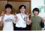 2020冬 中学3年 (左)前河龍翼さん オンライン授業
