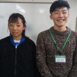 2021春 中学2年 宇賀彩笑さん 熊本先生