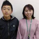 2021春 中学3年 本橋拓和さん 唐﨑先生
