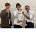 2021春 中学3年 (中央)小川聖矢さん (左)天野先生・(右)天笠先生