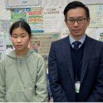 2021春 中学1年 前田あくあさん 畑先生