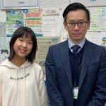 2021春 中学1年 西川菜々美さん 畑先生