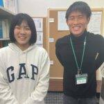 2021春 中学3年 飯田夏葵さん 竹村先生
