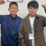 2021夏 中学2年 志賀諒さん 大﨑先生