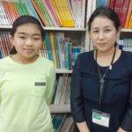 2021夏 小学6年 岩上純麗さん 山田先生