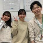 2021春 中学1年 佐藤菜緒さん(左) 池内先生
