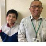 2021夏 中学2年 井田武蔵さん 山本先生