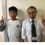 2021夏 中学3年 佐々木崇翔さん 廣田先生